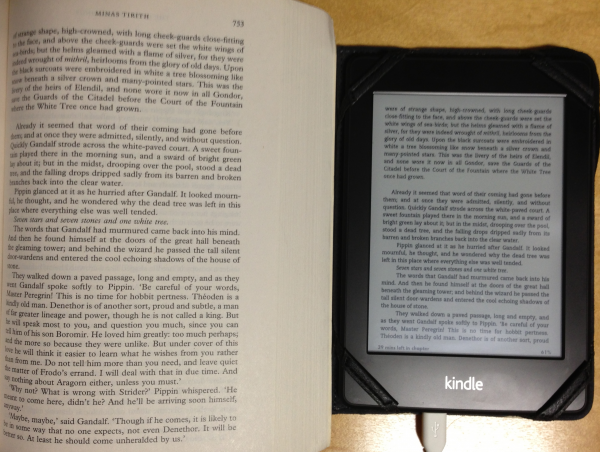 Lord of the Rings on paperback versus on the Kindle